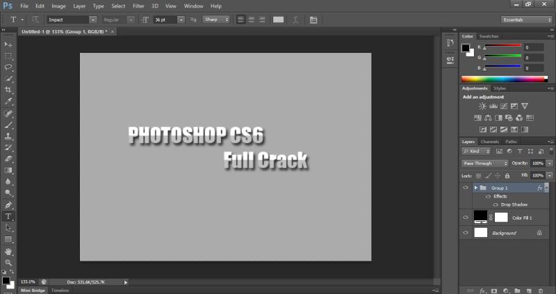 cài đặt photoshop cs6 full crack